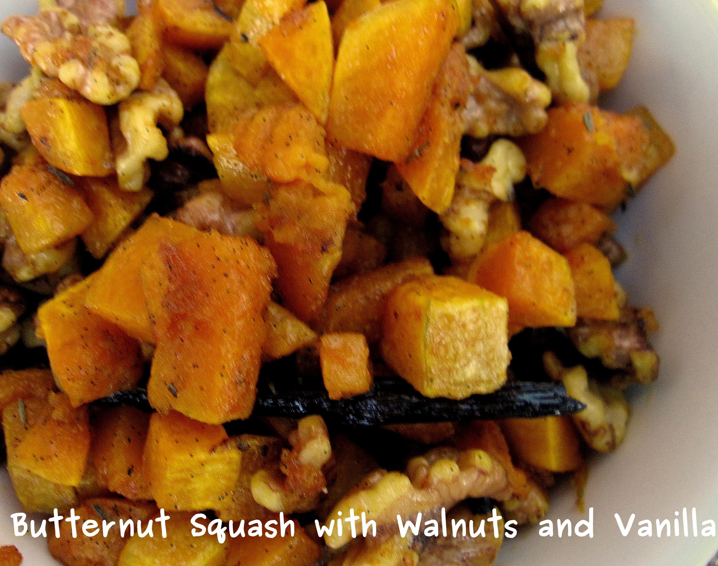 Butternut Squash With Walnuts And Vanilla Recipe — Dishmaps