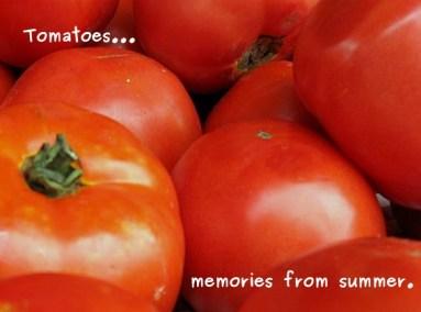 A photo of summer tomatoes