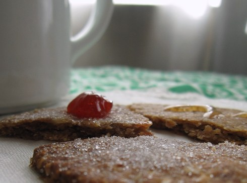 A photo of the oatcakes with coffee