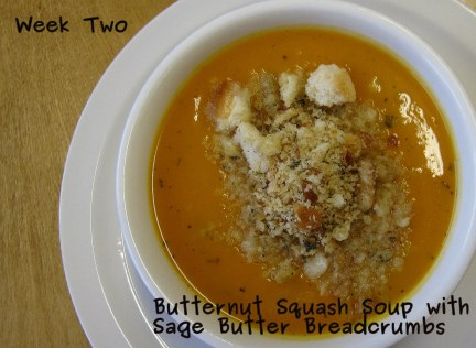 A photo of Soup with Sage Butter