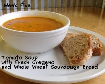 A photo of tomato soup