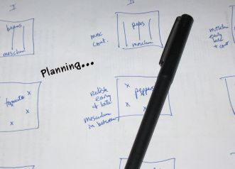 A photo of the planning sketch