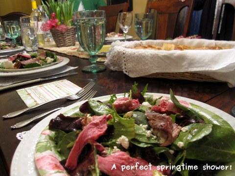 A photo of the lamb salad