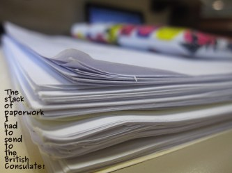 A photo of paperwork