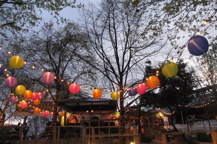 A photo of lanterns along the Thames