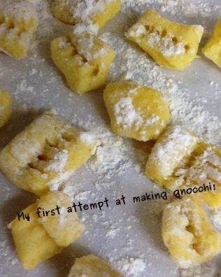 A photo of my homemade gnocchi
