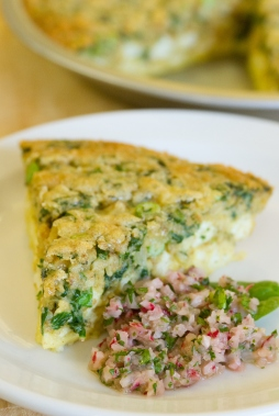 A photo of the quiche and slaw