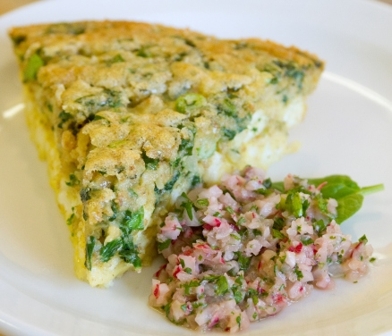 A photo of the quiche