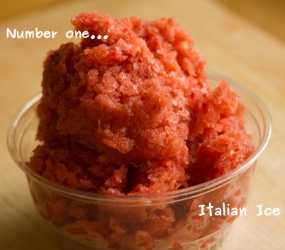 A photo of Italian ice