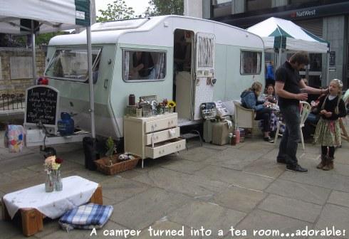A photo of a camper tea room