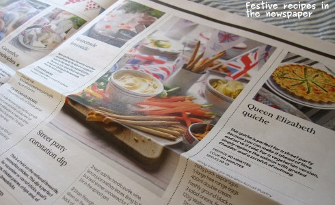 A photo of recipes in the newspaper