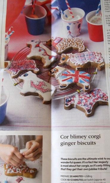 A photo of a recipe for corgi cookies
