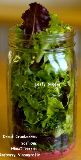 photo of salad in a jar