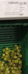 A photo of cobnuts at the supermarket