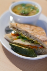 Photo of Sandwich and Soup