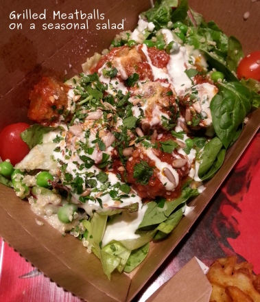 Photo of Grilled Meatballs on a Seasonal Salad
