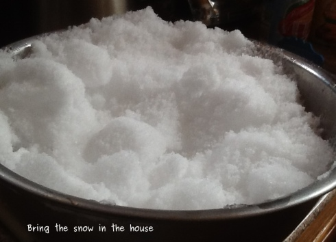 A bowlful of snow