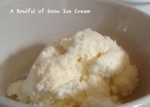A bowlful of snow ice cream