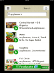 Screenshot of Fooducate App