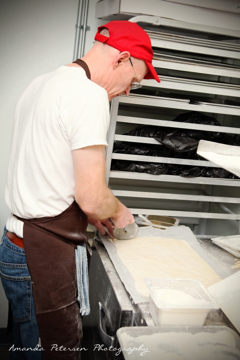 Photo of making wrap dough