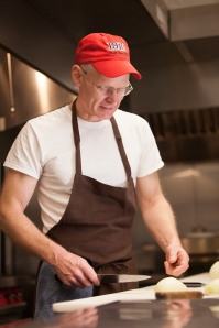 Photo of Steve teaching knife skills