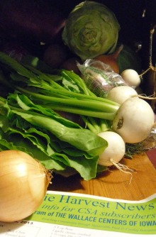 photo of CSA box